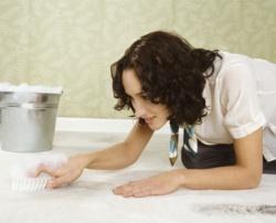 очищение поверхностей при помощи соды